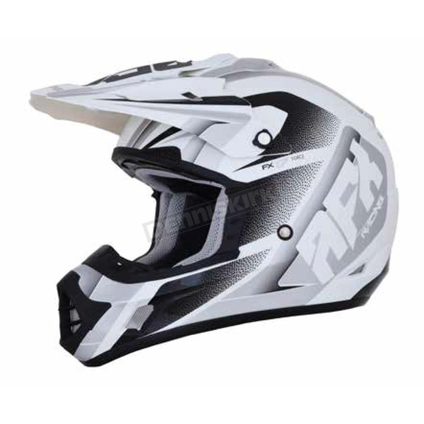AFX Pearl White/Silver FX-17 Force Helmet - 0110-5250
