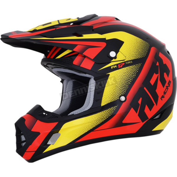 AFX Red/Yellow/Black FX-17 Force Helmet  - 0110-5275