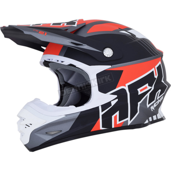 AFX Frost Gray/Red FX-21 Pinned Helmet - 0110-5315