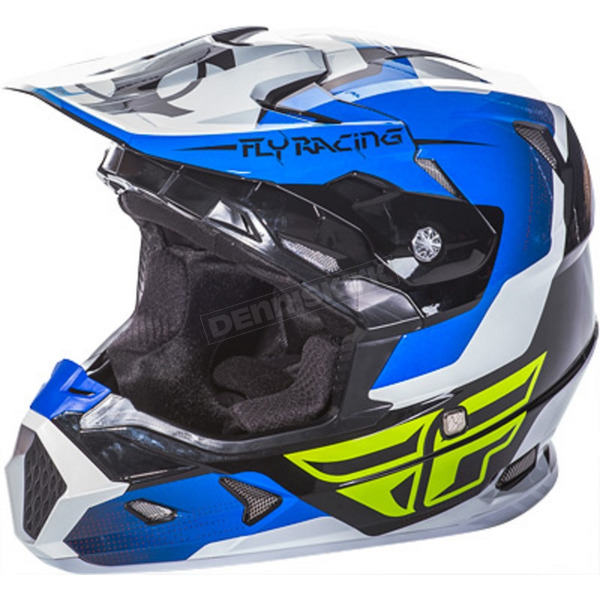 Fly Racing Blue/Black/White Toxin Helmet - 73-8513M