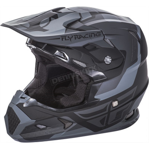 Fly Racing Youth Matte Black/Gray Toxin Helmet - 73-8515YL