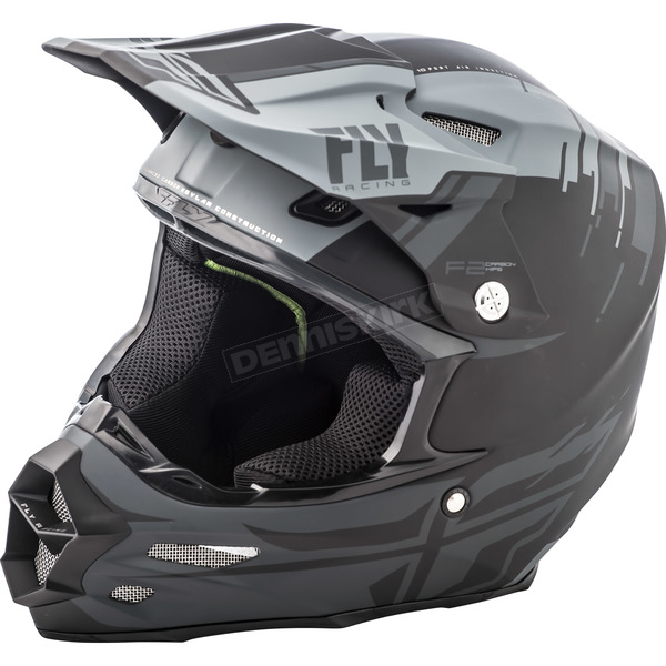 Fly Racing Matte Gray/Black F2 Carbon MIPS Forge Helmet - 73-4230S