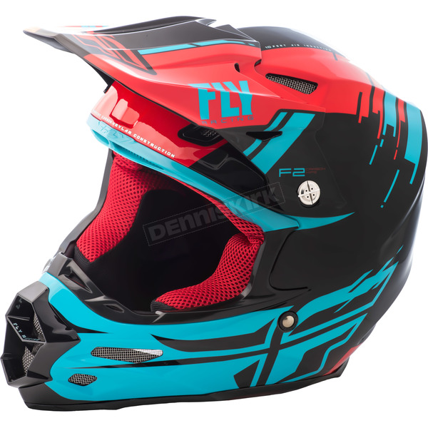 Fly Racing Red/Blue/Black F2 Carbon MIPS Forge Helmet - 73-42322X