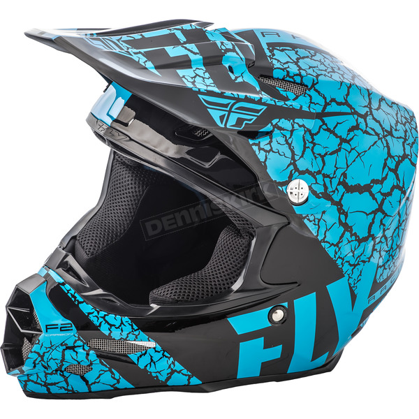 Fly Racing Lite Blue/Black F2 Carbon Fracture Helmet - 73-4173X