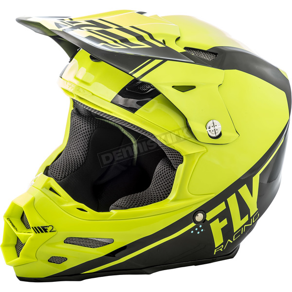 Fly Racing Hi-Vis/Black F2 Carbon Rewire Helmet - 73-4160X