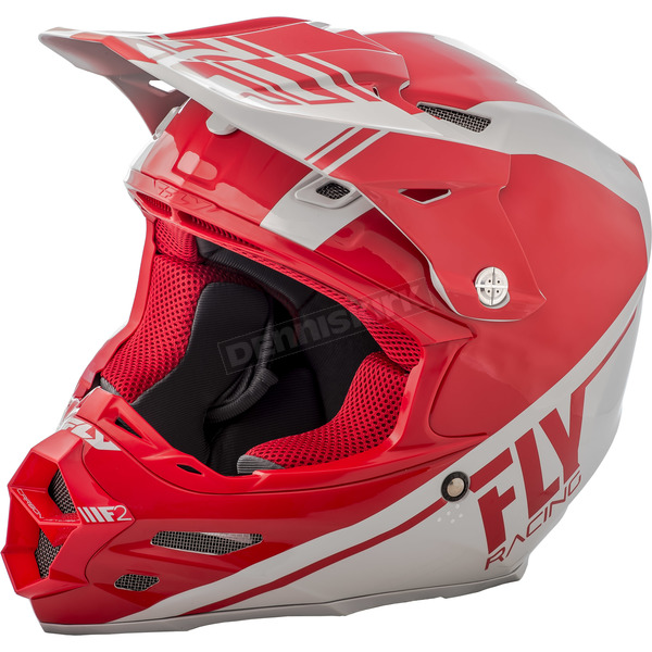 Fly Racing Red/Gray F2 Carbon Rewire Helmet - 73-4162L