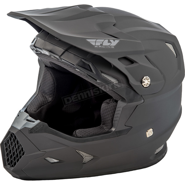 Fly Racing Youth Matte Black Toxin Helmet - 73-8521YL