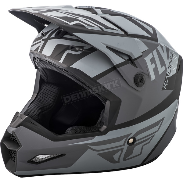 Fly Racing Youth Matte Gray/Black Elite Guild Helmet - 73-8600YS