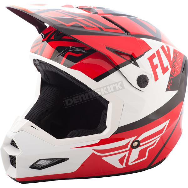 Fly Racing Red/White/Black Elite Guild Helmet - 73-8602XS