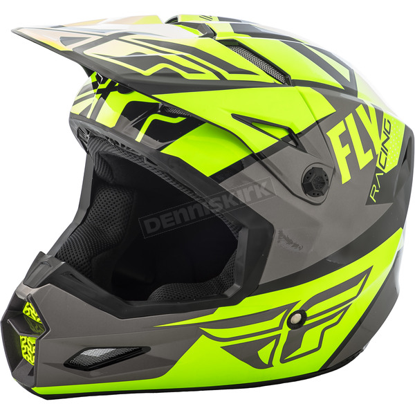 Fly Racing Hi-Vis/Gray/Black Elite Guild Helmet - 73-8605XS