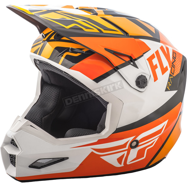 Fly Racing Youth Orange/White/Black Elite Guild Helmet - 73-8608YS