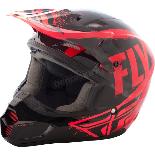 Fly Racing Black/Red/Orange Kinetic Burnish Helmet - 73-3392M