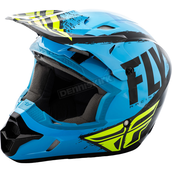 Fly Racing Youth Blue/Black Kinetic Burnish Helmet - 73-3393YL