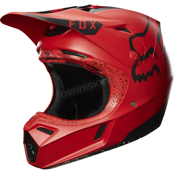 Fox Red/Black V3 Moth Limited  Edition Helmet - 17393-055-XL