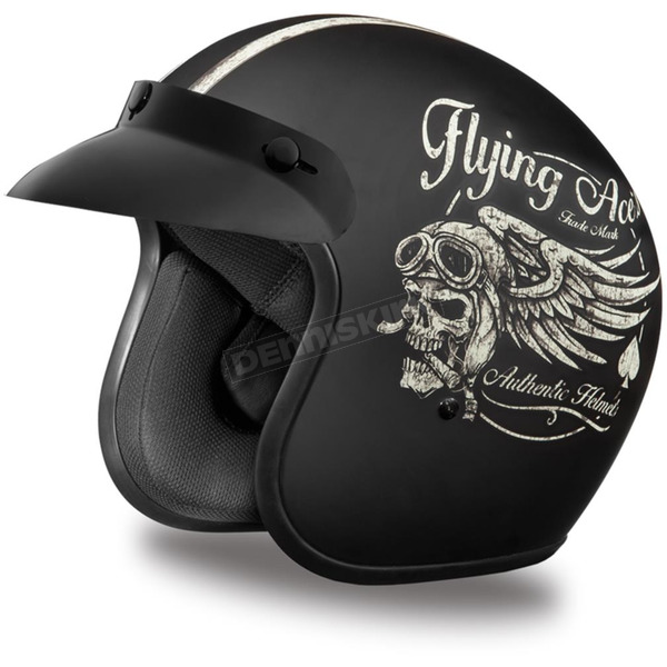 Daytona Flying Ace's 3/4 Cruiser Helmet - DC6-FAC-XXL