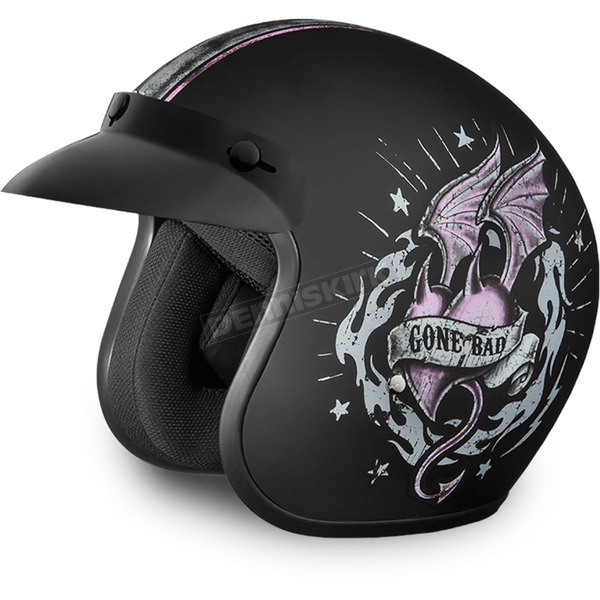 Daytona Gone Bad 3/4 Cruiser Helmet - DC6-GB-XS
