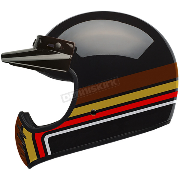 Bell Helmets Black/Orange Moto-3 Stripes Limited Edition Helmet - 7086347