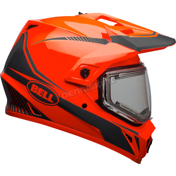 Bell Helmets Orange/Black MX-9 Adventure Snow Torch Helmet w/Electric Shield - 7090655