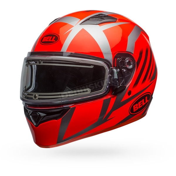 Bell Helmets Orange/Titanium Qualifier Blaze Snow Helmet w/Electric Shield - 7090742