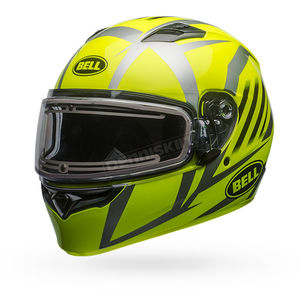 Bell Helmets Yellow/Titanium Qualifier Blaze Snow Helmet w/Electric Shield - 7090769