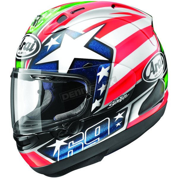 Arai Helmets Red/White/Blue Corsair-X Nicky-6 Helmet - 814641
