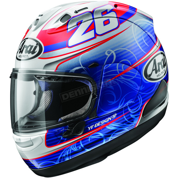 Arai Helmets Red/Blue Corsair-X Dani-4 Helmet - 814893