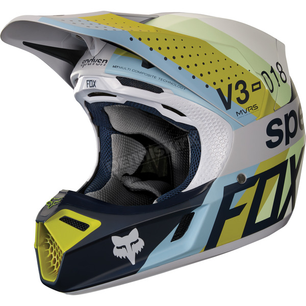 Fox Light Gray MVRS V3 Draftr Helmet - 19519-097-XL