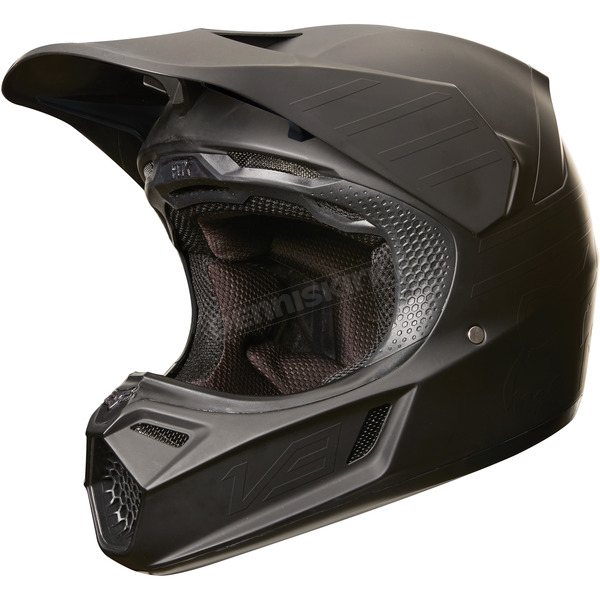 Fox Matte Black MVRS V3 Matte Carbon Helmet - 19525-255-XL