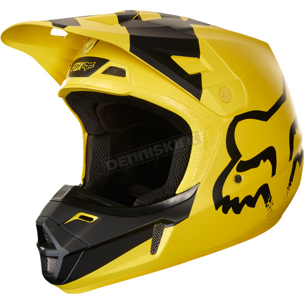 Fox Yellow V2 Mastar Helmet - 19529-005-XS