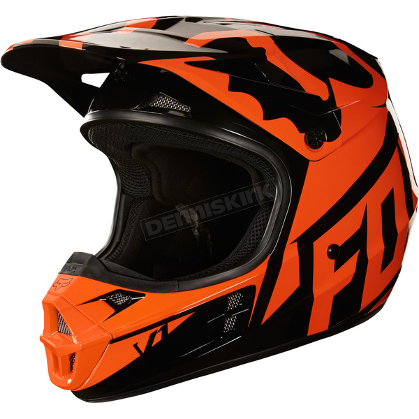 Fox Orange V1 Race Helmet  - 19531-009-M