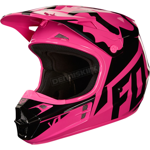 Fox Pink V1 Race Helmet - 19531-170-XL