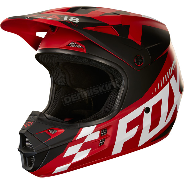 Fox Matte Red V1 Sayak Helmet - 19533-003-2X