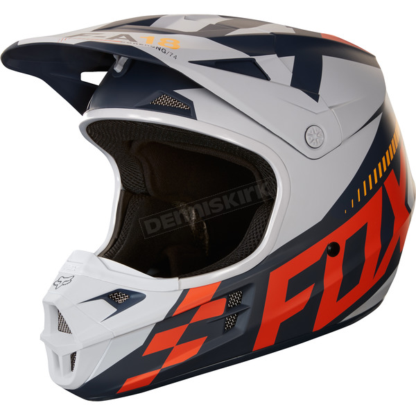 Fox Matte Orange V1 Sayak Helmet - 19533-009-M