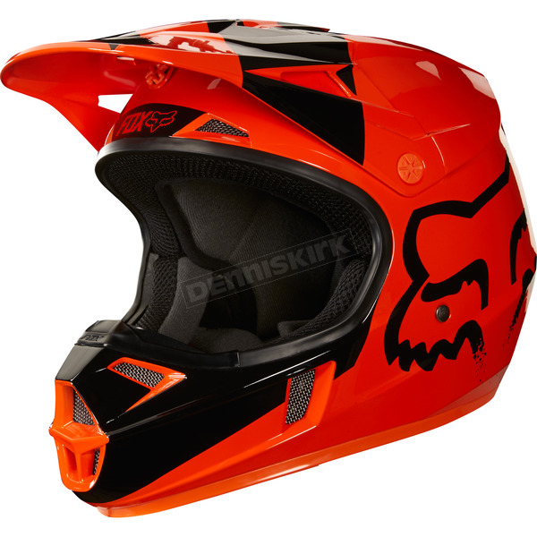 Fox Youth Orange V1 Mastar Helmet - 19543-009-M
