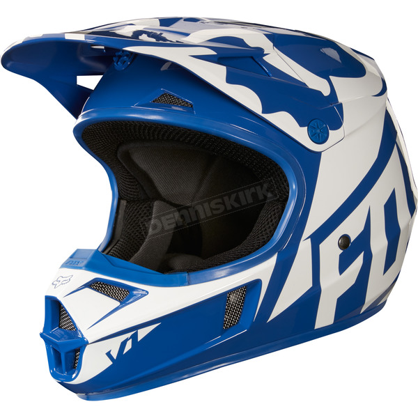 Fox Youth Blue V1 Race Helmet - 19541-002-S