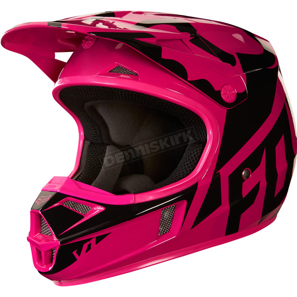 Fox Youth Pink V1 Race Helmet - 19541-170-M