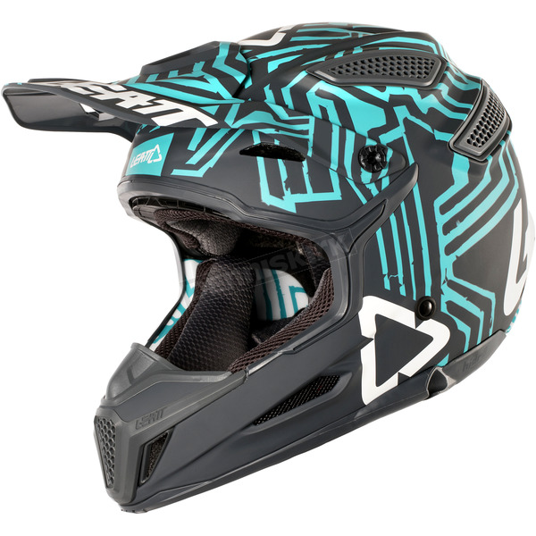 Leatt Gray/Teal GPX 5.5 Composite V11 Helmet - 1018100135