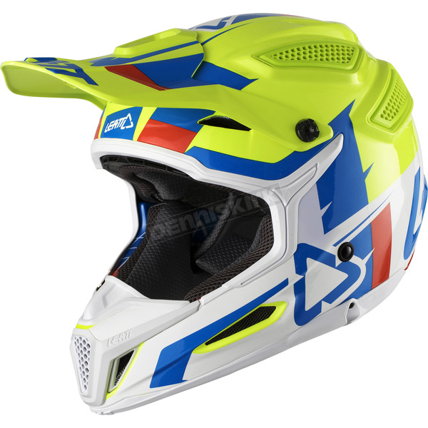 Leatt Lime/White GPX 5.5 Composite V10 Helmet - 1018100153