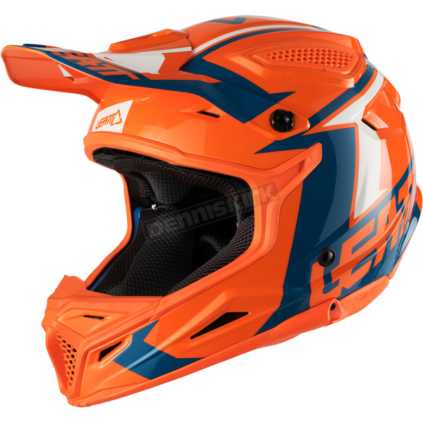 Leatt Orange/Denim GPX 4.5 V20 Helmet - 1018200184