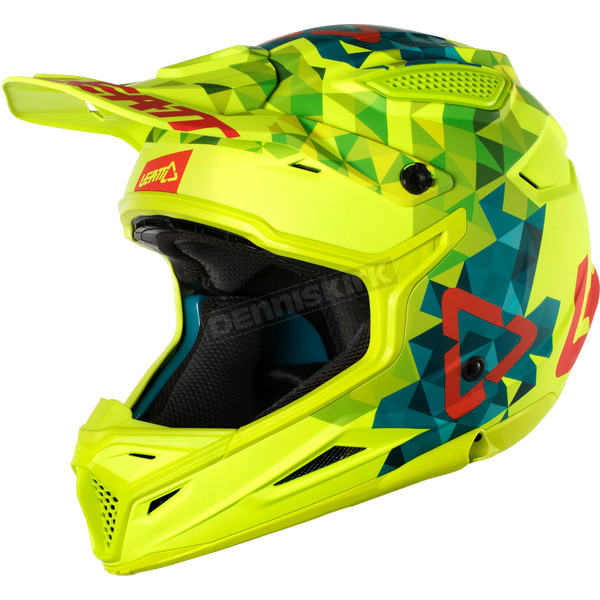 Leatt Lime/Teal GPX 4.5 V22 Helmet - 1018200201