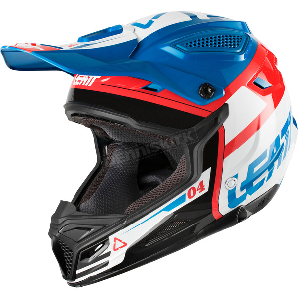 Leatt Blue/White GPX 4.5 V25 Helmet - 1018200210