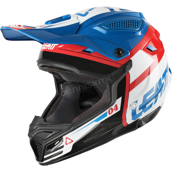 Leatt Youth Blue/White GPX 4.5 V10 Helmet - 1018200241