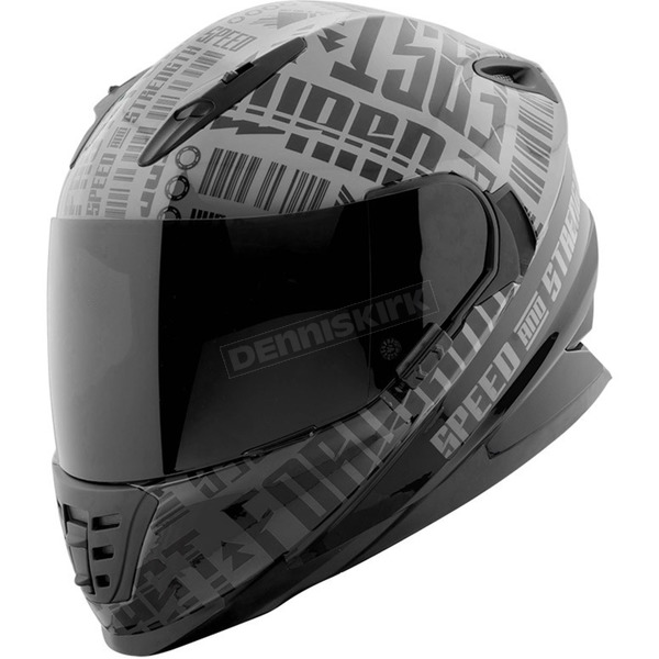 Speed and Strength Charcoal/Black Fast Forward SS1310 Helmet - 884545
