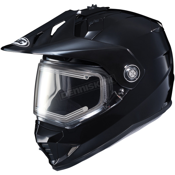 HJC Black DS-X1 Snow Helmet w/Frameless Electric Shield - 011-603