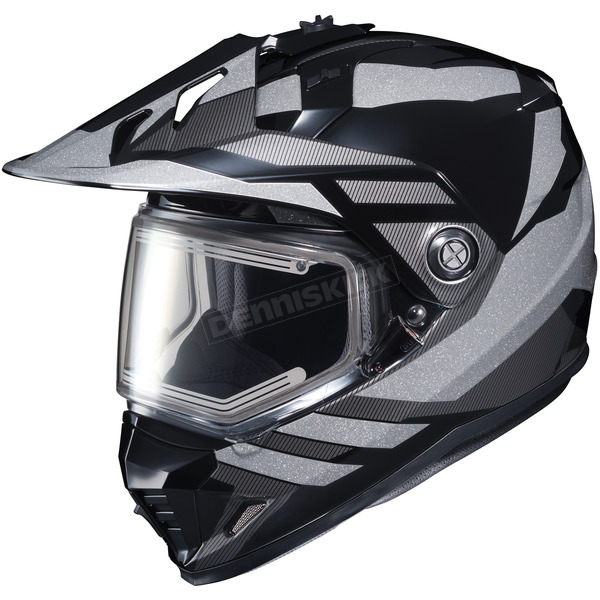 HJC Black/Gray DS-X1 Lander MC-5 Snow Helmet w/Frameless Electric Shield - 013-951