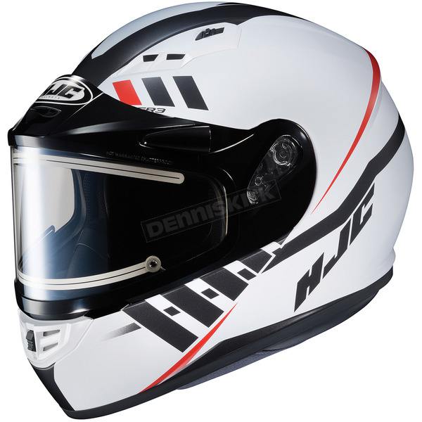 HJC Semi-Flat White/Black CS-R3SN Space MC-10SF Helmet w/Electric Shield - 037-705