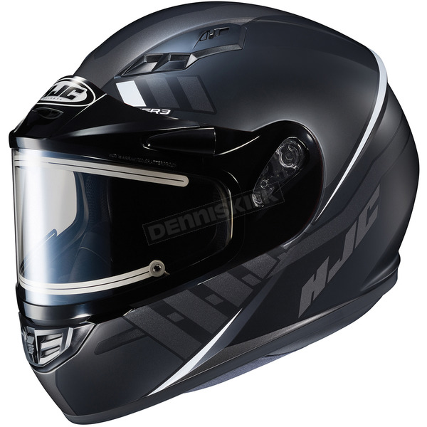 HJC Semi-Flat Black/Gray CS-R3SN Space MC-5SF Helmet w/Electric Shield - 037-756