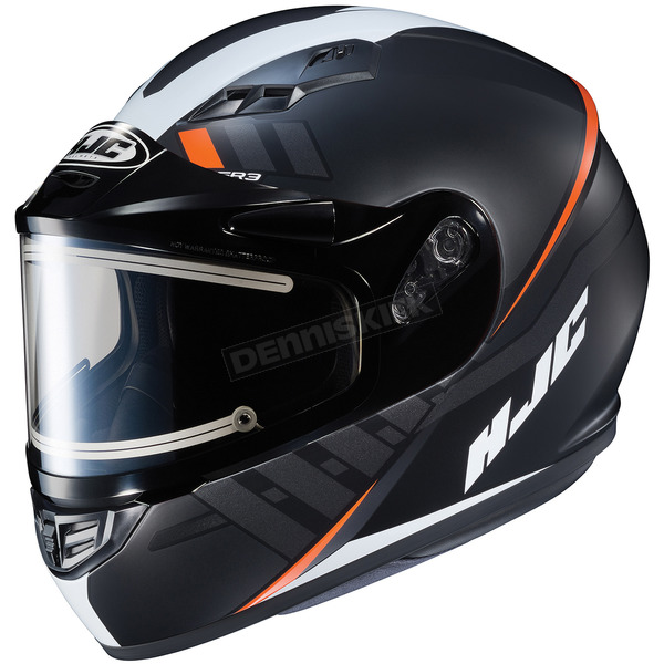 HJC Semi-Flat Black/White CS-R3SN Space MC-7SF Helmet w/Electric Shield - 037-773