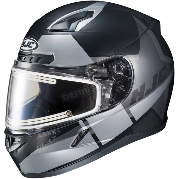 HJC Semi-Flat Black/Gray CL-17SN Boost MC-5SF Helmet w/Frameless Electric Shield - 153-758