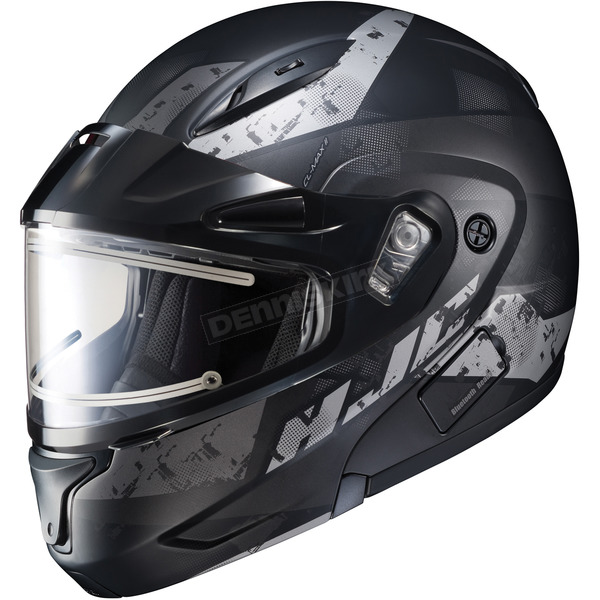 HJC Semi-Flat Black/Gray CL-Max2SN Friction MC-5SF Helmet w/Framed Electric Shield - 197-758